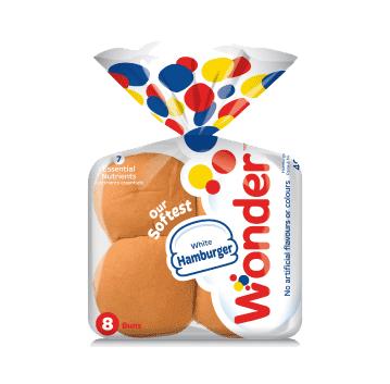 Wonder White Hamburger Buns 8 pack