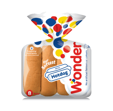 Wonder White Hotdog 8 Pack