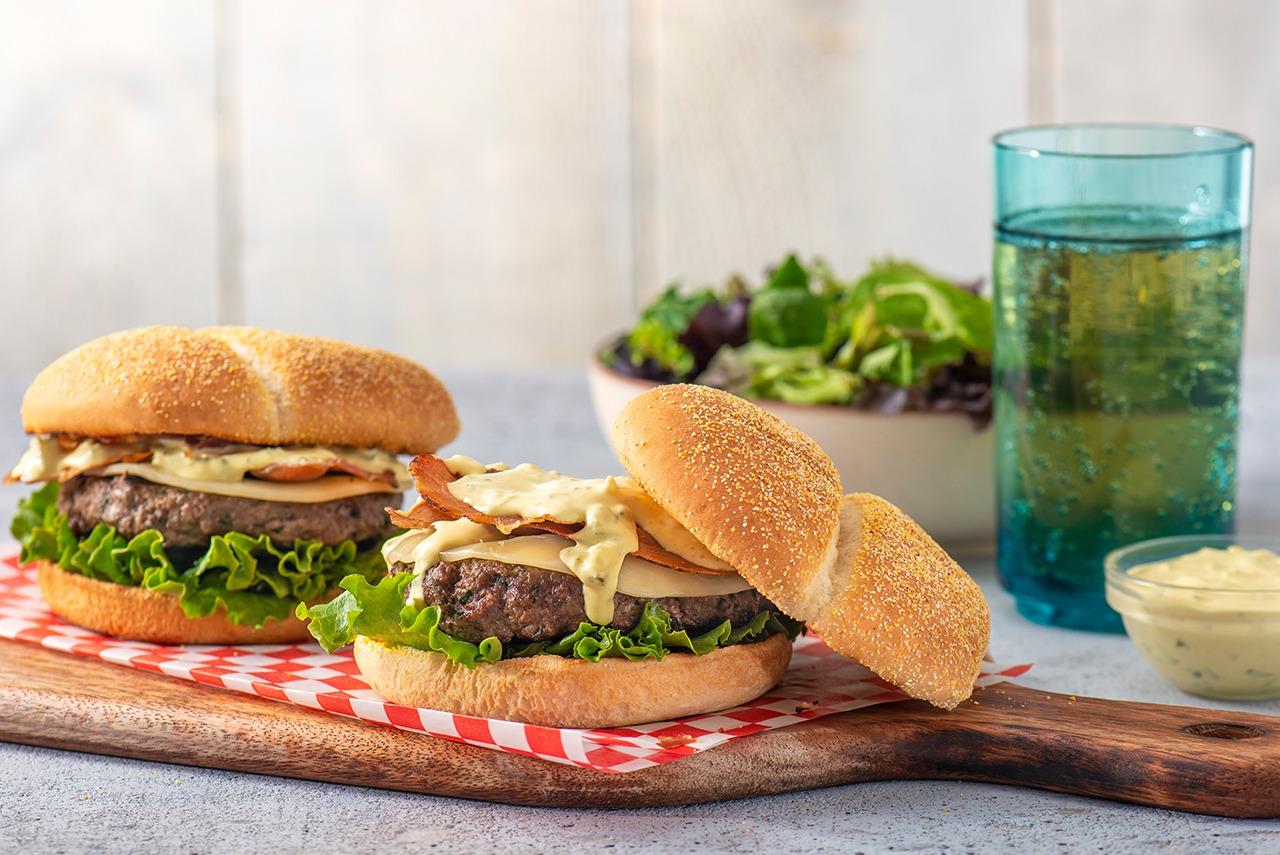 DItaliano Crispy Prosciutto Burgers