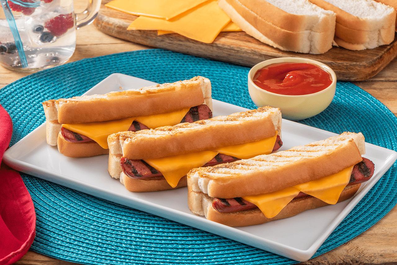 Wonder Grilled Cheese Hotdogs